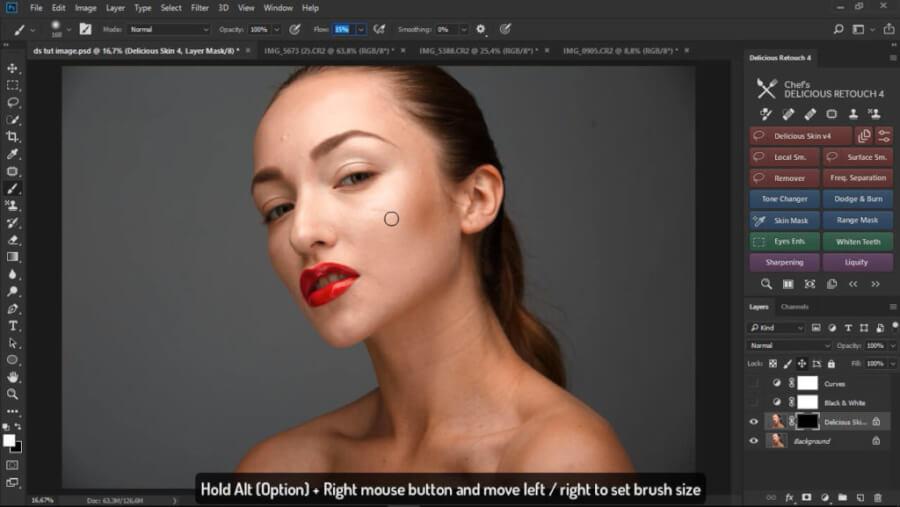 Delicious Retouch V4.1.0 – Photoshop人像磨皮美容插件 AE插件-第2张