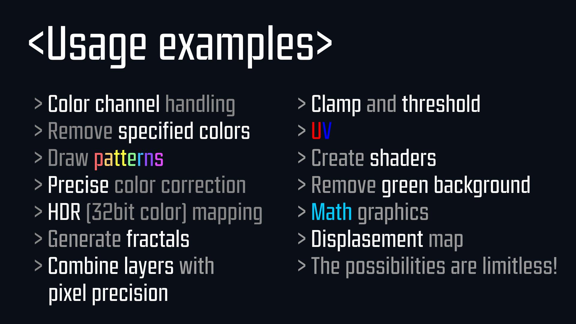 AE插件-PixelsCore v1.1 像素核心-(国人开发)用脚本代码语言控制图像视觉+ 国语教程 AE插件-第3张