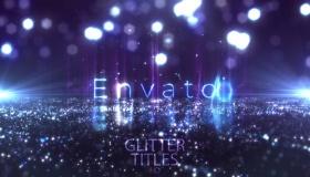 AE模板-闪烁粒子时尚文字宣传片头 Glitter Fashion Titles