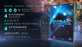 100种多边图形拼接马赛克转场效果包 Mosaic Transitions Kit