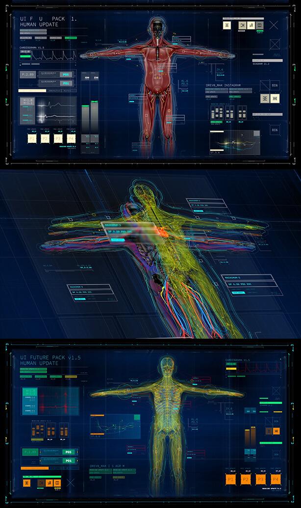 未来高科技信息UI元素包 UI FUTURE PACK V1.5 AE模板-第4张