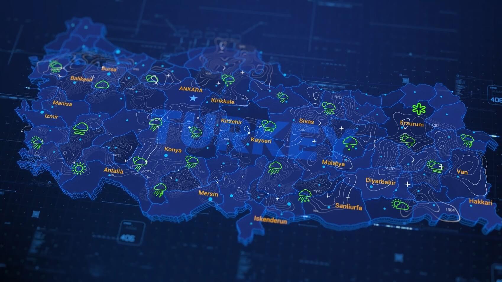 AE模板-科技感HUD三维空间军事地图路径演示动画 AE模板-第11张