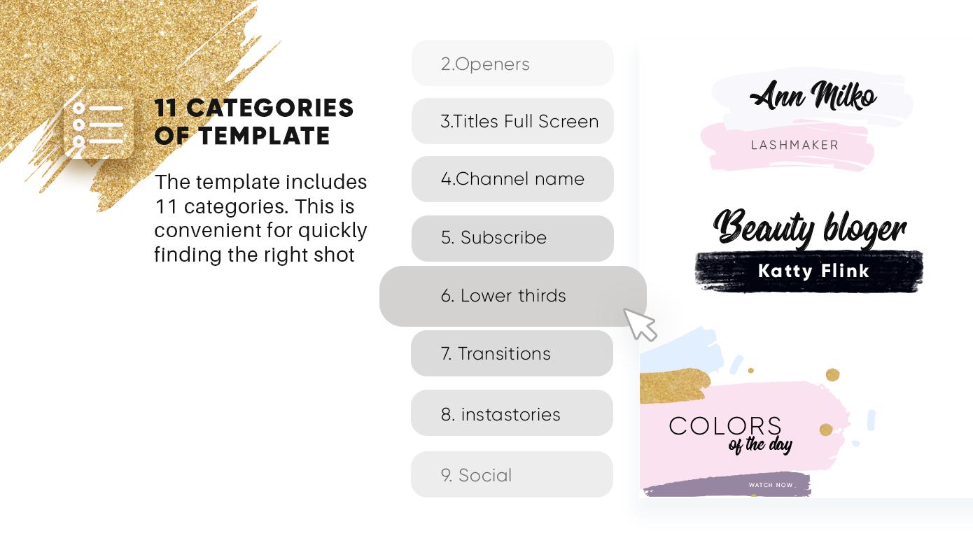 AE模板-简洁时尚字幕转场过渡宣传动画 Beauty Pro AE模板-第2张