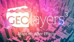 AE扩展-GEOlayers 3 v1.0.0 世界地图位置路径动画制作AE扩展