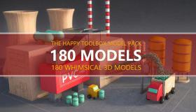 C4D模型包-卡通工具日常用品模型素材 The Happy Toolbox 3D Model Pack Vol. 1