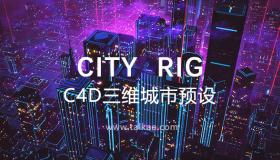 C4D城市楼房建筑预设 City Rig 2.13