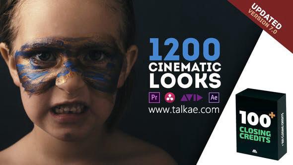 Cinematic Looks LUTs Presets Pack v7 1200种电影级ffx调色预设 AE预设-第1张