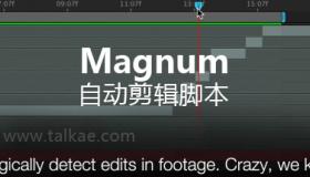 AE自动剪辑分段脚本 Magnum v3.3.2 + 视频教程