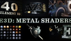 E3D金属材质无缝贴图预设包 Metal Shaders for Element 3D