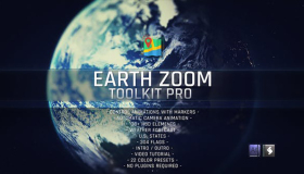 科技感地球俯冲定位HUD工具包 Earth Zoom Toolkit Pro