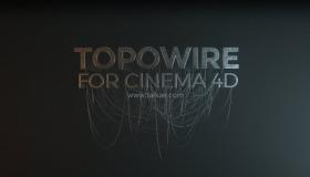 C4D电线绳缆创建插件 Topowire 1.0 R14-R19